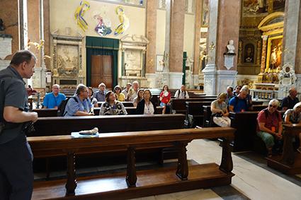 Station in der deutschsprachige Kirche in Rom